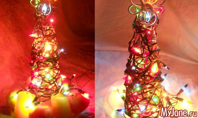 Светильник елка своими руками