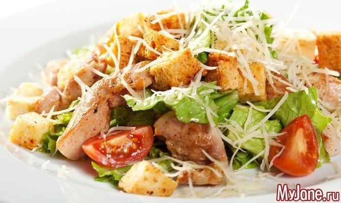 Салат из копчёной курицыы с фото
