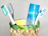 Стакан для зубной щетки своими руками