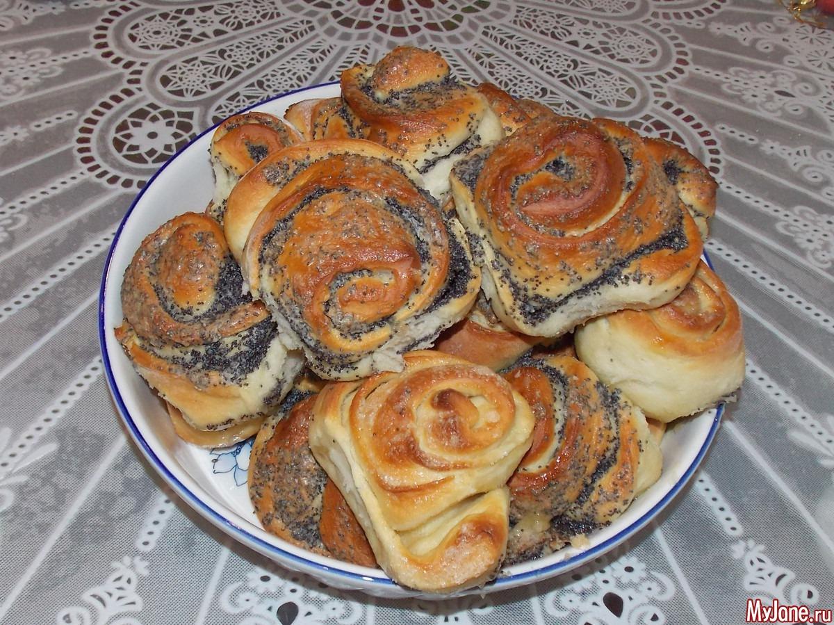 Рецепт приготовления булочек с маком