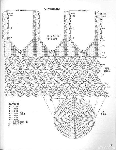 Пляжные вязанные сумки крючком схемы и описания