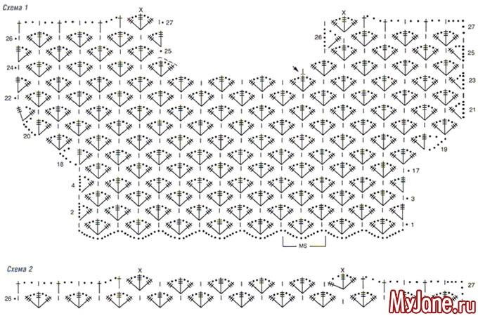 Схемы вязания крючком кофточек для женщин 50 размера 69