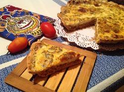 Пирог со скумбрией и творогом