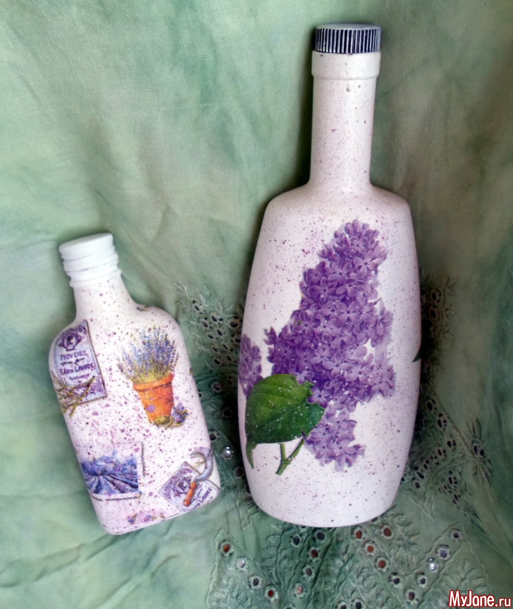 Декупаж бутылок как делать