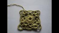 Красивый квадратный мотив крючком. Crochet motif