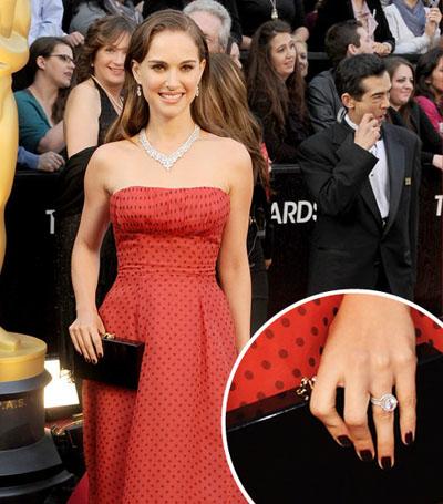 Синее платье и красные ногти