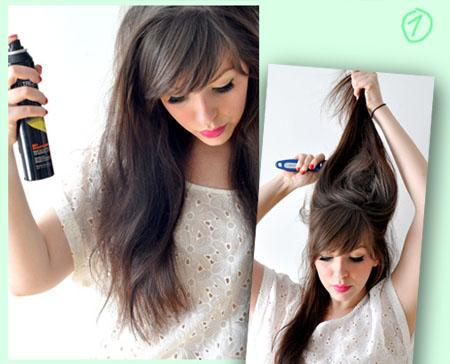 Как правильно сделать начес волос фото