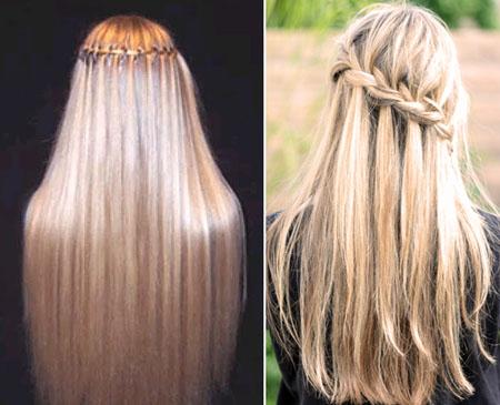 Зачіска з «водоспадними» французькими косами (+ покрокові фото)