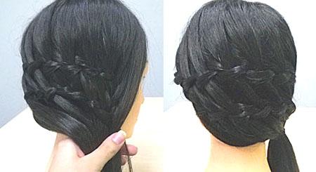 Каскадні коси (фото)