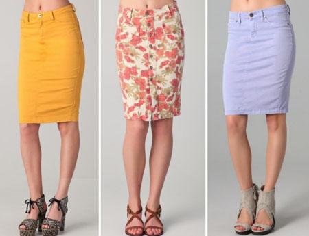 Купить юбку карандаш цветную