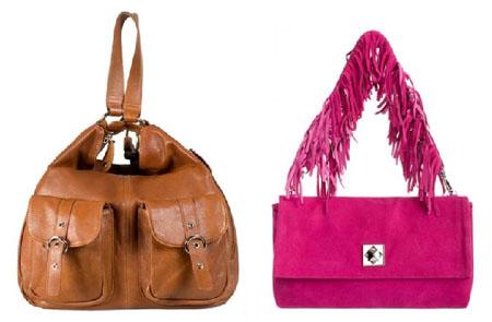 На фото: лидеры продаж, кожаная сумка Palio, замшевая сумка Eleganzza.