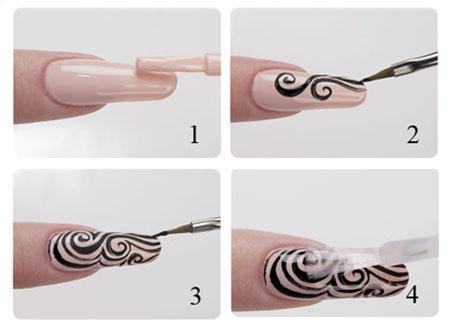 Как самостоятельно нарисовать узоры на ногтях