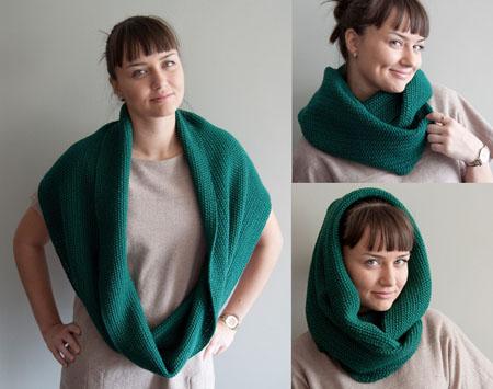 мужской шарф хомут вязанный.