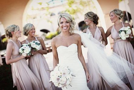 взрослые и детские платья на свадьбу не длинные и в стиле ампир