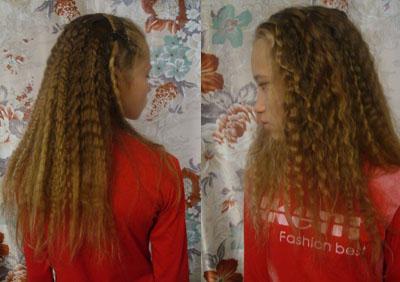 Как из косичек сделать волнистые волосы