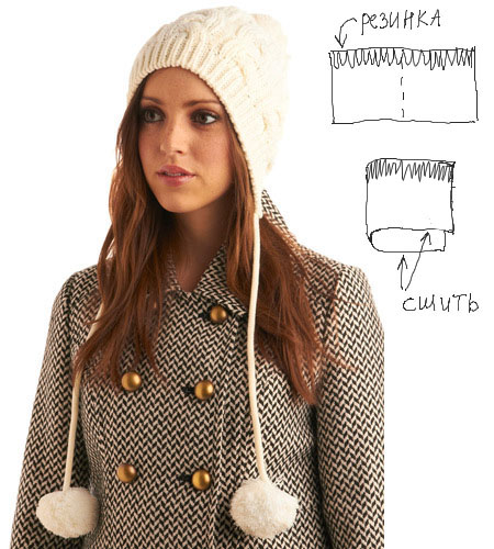 Не пугайтесь этого слова, шапочка эта женственна и романтична.