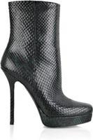 Черный овчины 4 7 / 10''пятки 4 / 5''Платформа Змея Boots Мода Стиль.