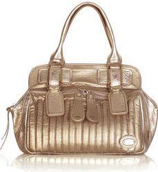 Chloé Bay metallic leather bag.