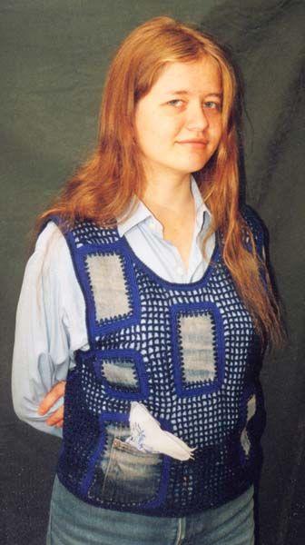 вязаные спицами жилеты для полных женщин.
