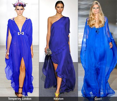 Gallery.ru / Вечерние платья и платья-макси - Яркий синий.