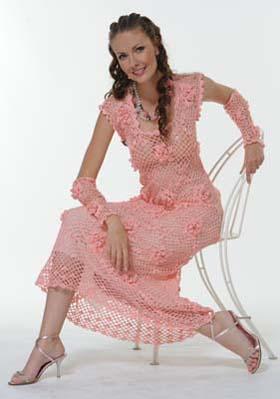 Платье и перчатки лотос