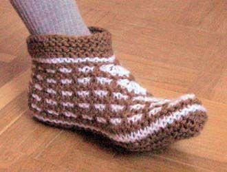 Вязание тапочки схема вязания