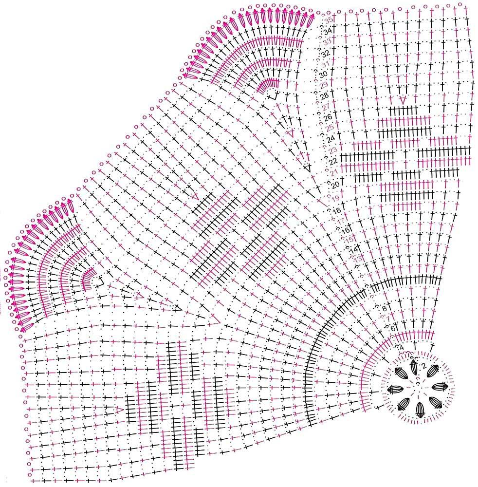 схемы овальных салфеток вязанных крючком.