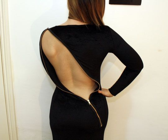 Платье с вырезом на спине своими руками