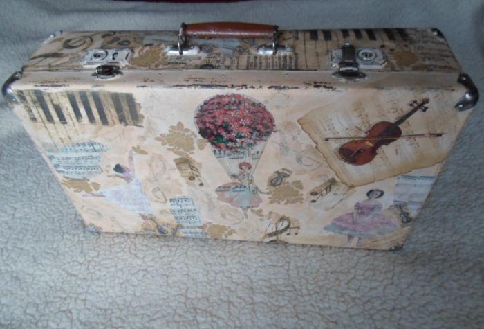 Мастер класс по декупажу чемодана