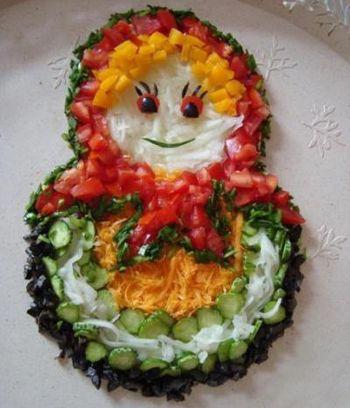 Салат матрешка рецепт с фото