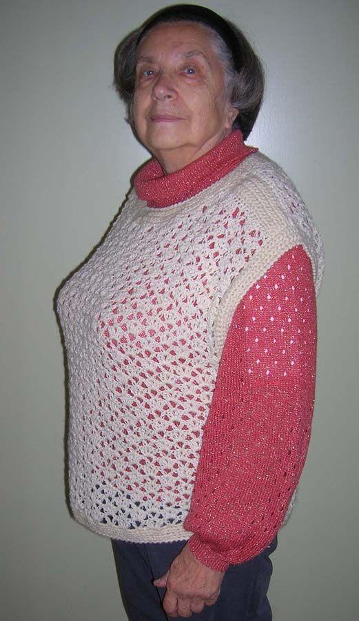 Вязаные спицами жилеты и безрукавки для женщин, схемы и
