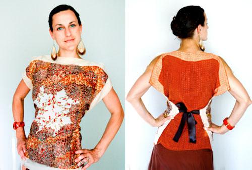 Сшить платье из платков