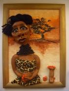 Для своей куклы я использовала цернит темного телесного цвета.  Основа головы и туловища - каркас из фольги.