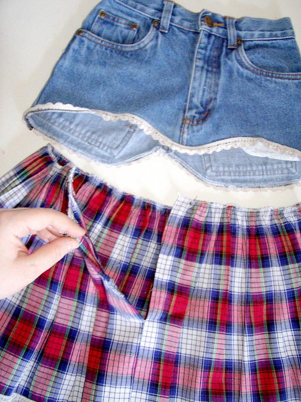 Из джинсовой юбки своими руками