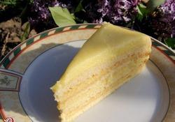 Тортик с творожным заварным кремом