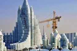 В Китае выстроили город изо льда
