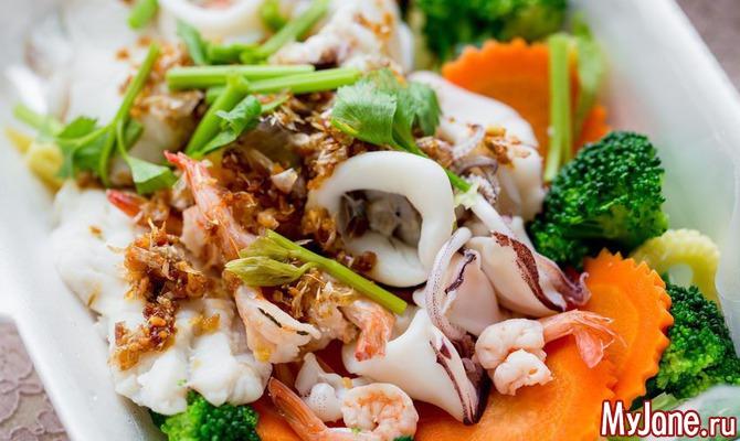 Оригинальные блюда с кальмарами