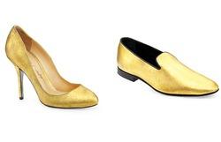 Создали туфельки из золота