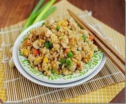 Кисло-сладкий рис с беконом