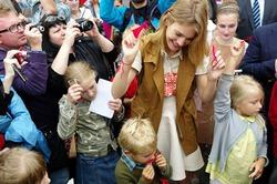 Наталья Водянова открыла сотый детский парк