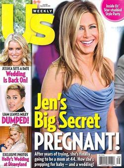 Дженнифер Энистон: снова «беременна»