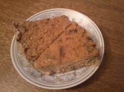 Соево-творожный пирог с грибами