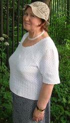 Белая блуза. Вязание крючком
