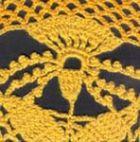 Полукруглая шаль «Гвоздика»