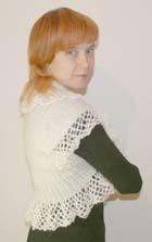 Рукоделие. Вязание на спицах и крючком. Болеро «Снежинка»