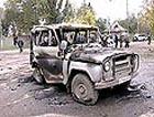 Взрыв милицейского автомобиля ранил 6 человек