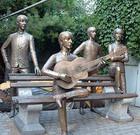 """Памятник """"Битлз"""" в Алма-Ате"""