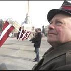 Марш пожилых эсэсовцев по центру Риги прошел спокойно, по-домашнему