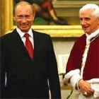 Президент РФ В. Путин поздравил Папу Римского с юбилеем