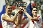 Динара Сафина стала победительницей Открытого чемпионата США по теннису в парном разряде